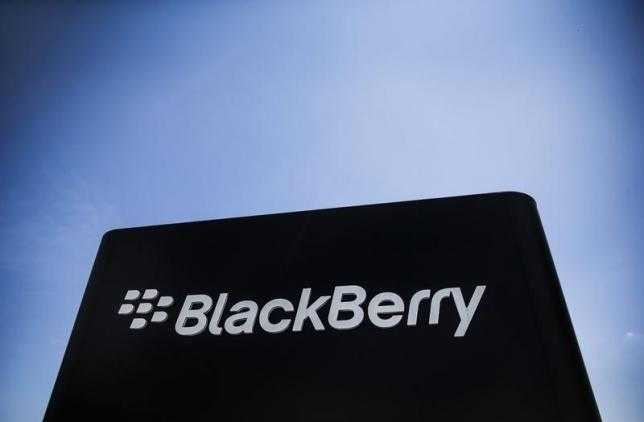 The Blackberry sign is pictured in Waterloo