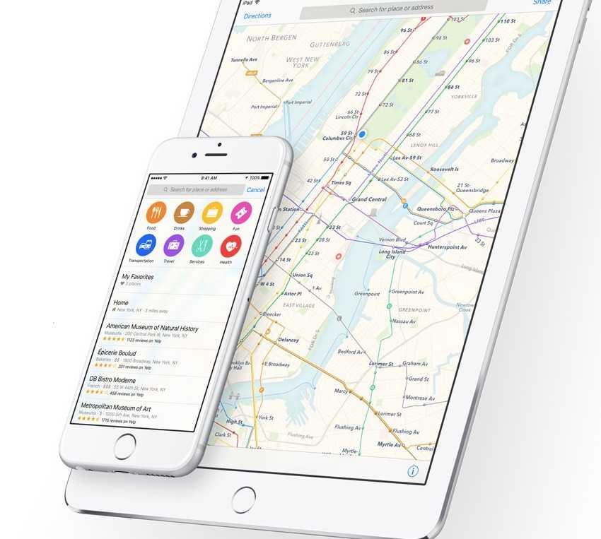 iOS 9 haritalar