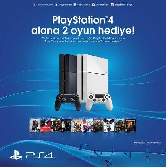Kaçırma! PlayStation 4 Alana 2 Oyun Hediye!
