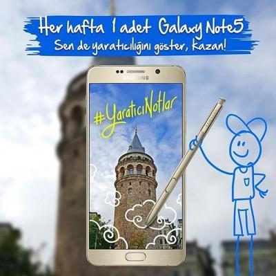 Galaxy Note5 Ödüllü Yarışma