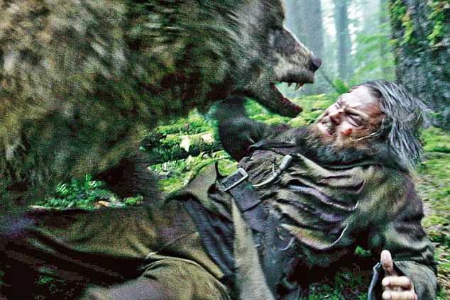 Oscar için Ayıya Dalan Adam DiCaprio