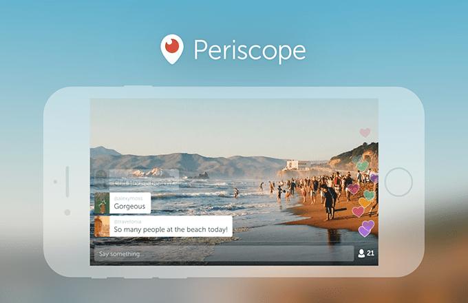 Periscope Yayınınız Artık Her Yerde!