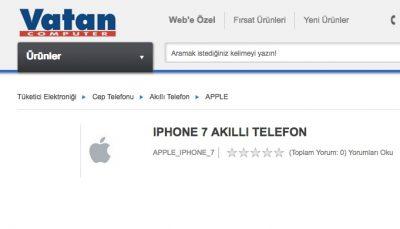 iPhone 7 Türkiye Fiyatı da Belli Oldu