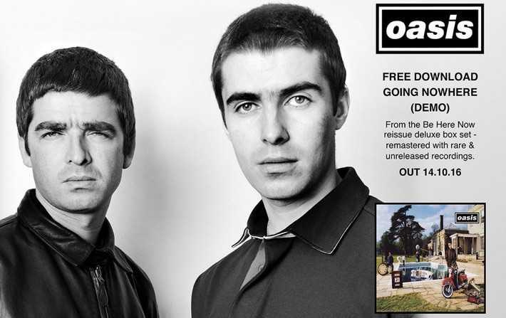 Oasis Yeni Albümü için Wetransfer'e Reklam Verdi