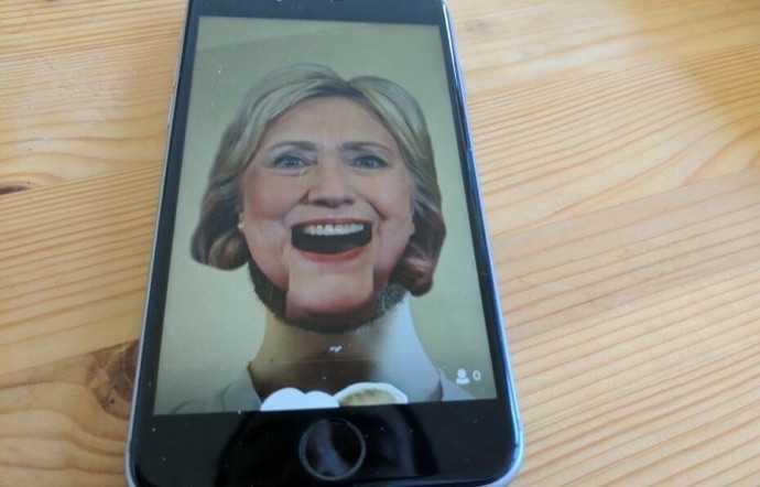 Periscope'da Clinton ve Trump Animasyonları Kullanımda