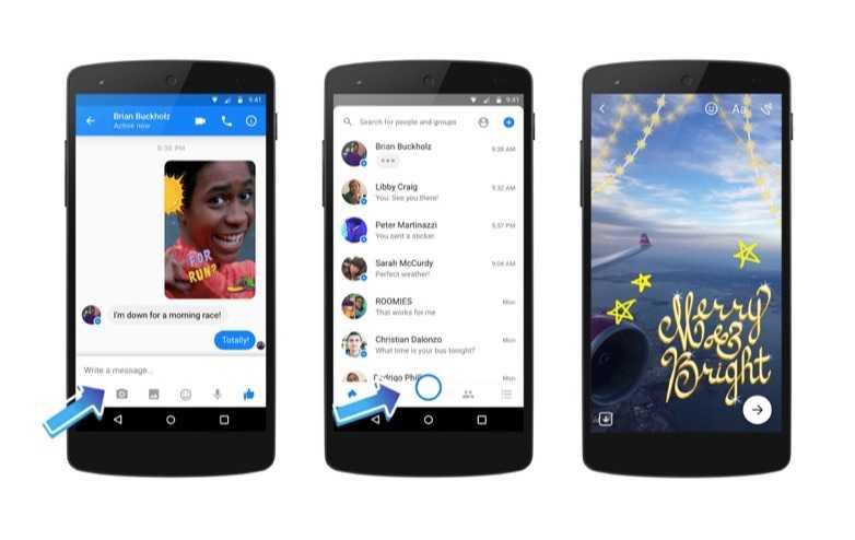 Facebook Messenger'a Kamera Fonksiyonu Geldi