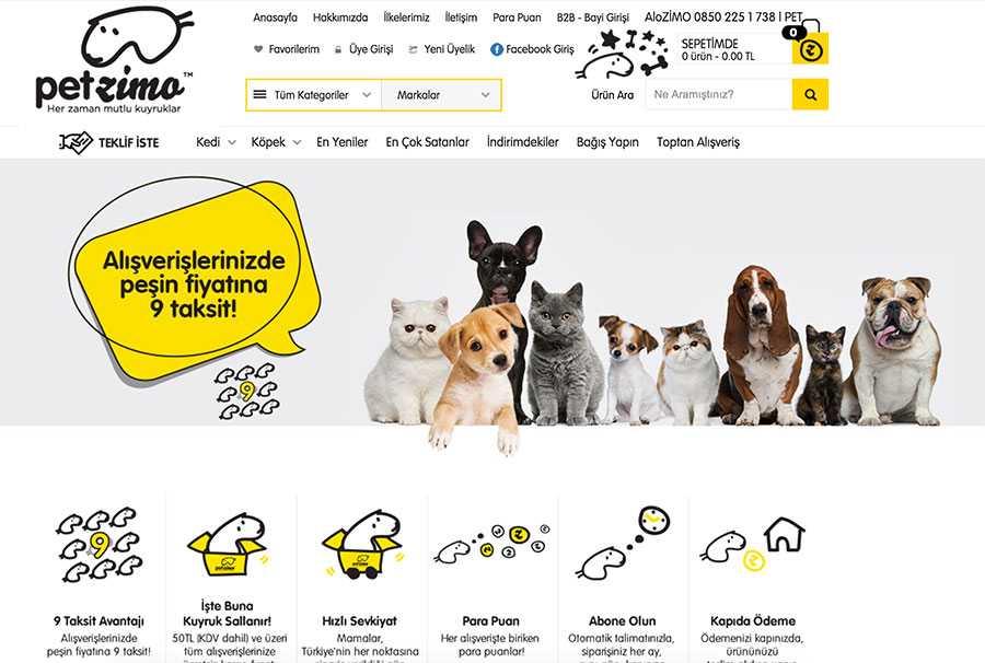 E-Ticaretin Pet Shop Mağazası Petzimo.com