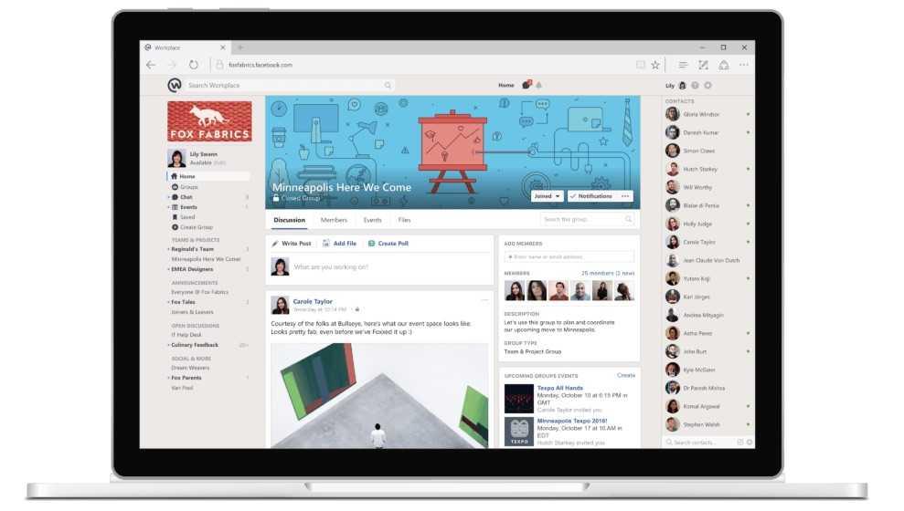 Facebook Workplace'e Yeni Mod Yolda
