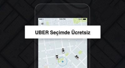 Uber, Seçimde Ücretsiz Taşıyacak