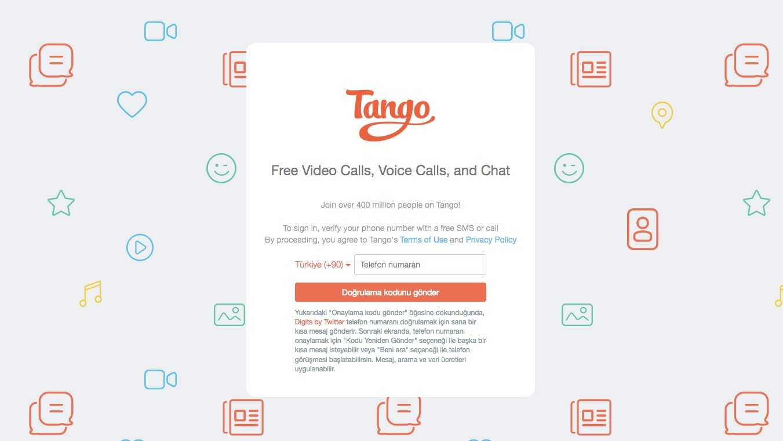 Tango Artık Web'te!