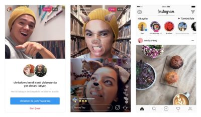 Instagram'da 'Arkadaşlarla' Canlı Yayın Dönemi