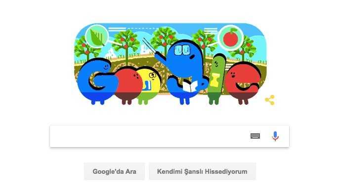 Google'dan Öğretmenler Günü Doodle'ı