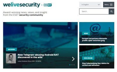 ESET'in global güvenlik blogu en iyi kurumsal güvenlik blogu seçildi