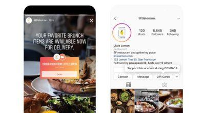 Instagram Yemek Siparişi Çıkartması Kullanıma Sunuldu